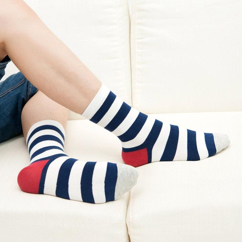 Новые товары для весны, хлопковые мужские носки, полосатые модные носки, мужские носки, оптовая продажа, мужские носки, чулки