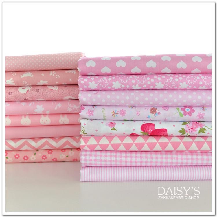 160x50cm Sweat Pink Rabbit Floral sarga tela para coser algodón Diy juguetes ropa niños ropa 160 g/m