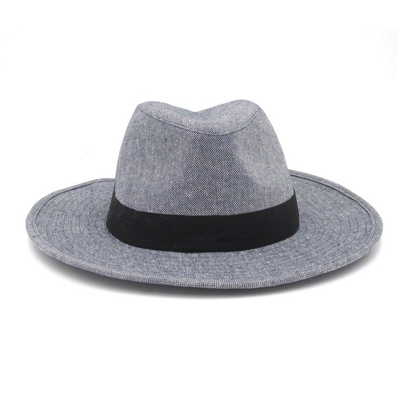 Мужские и женские ковбойские шапки с широкими полями, Повседневные Удобные Хлопковые шапки серого цвета в стиле унисекс для путешествий, 2019