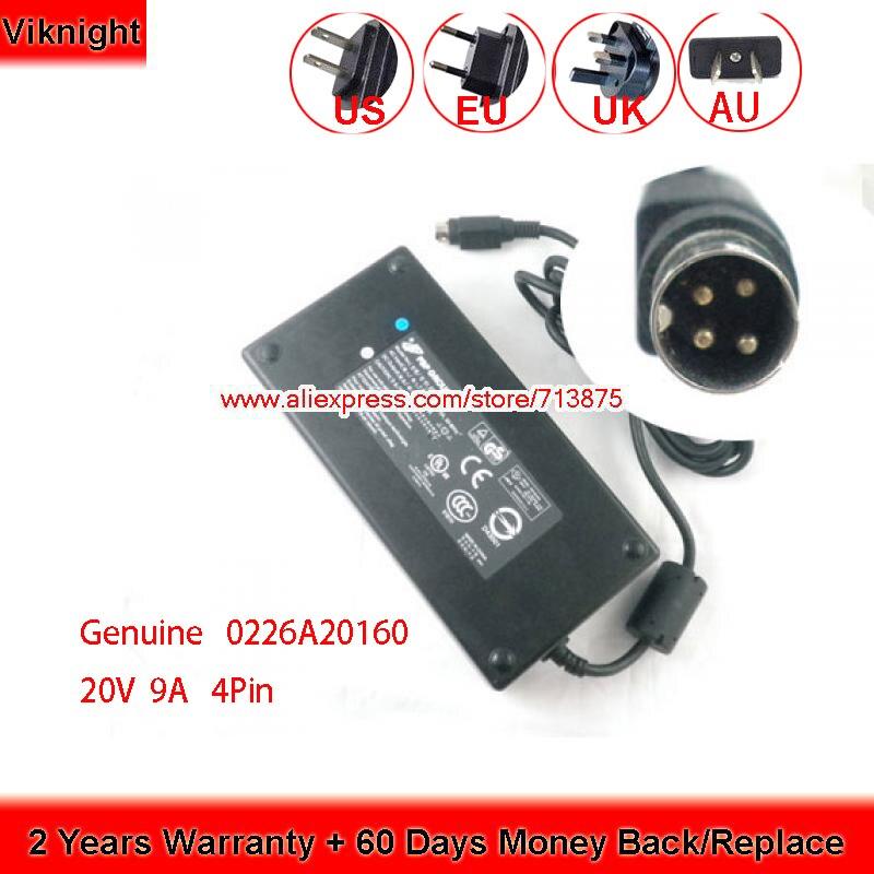 De 20V 9A 180W 4 Pin 0226A20160 adaptador de CA Para MTECH D700T D750W D9T D90T D900T D1845 A1630 5620D