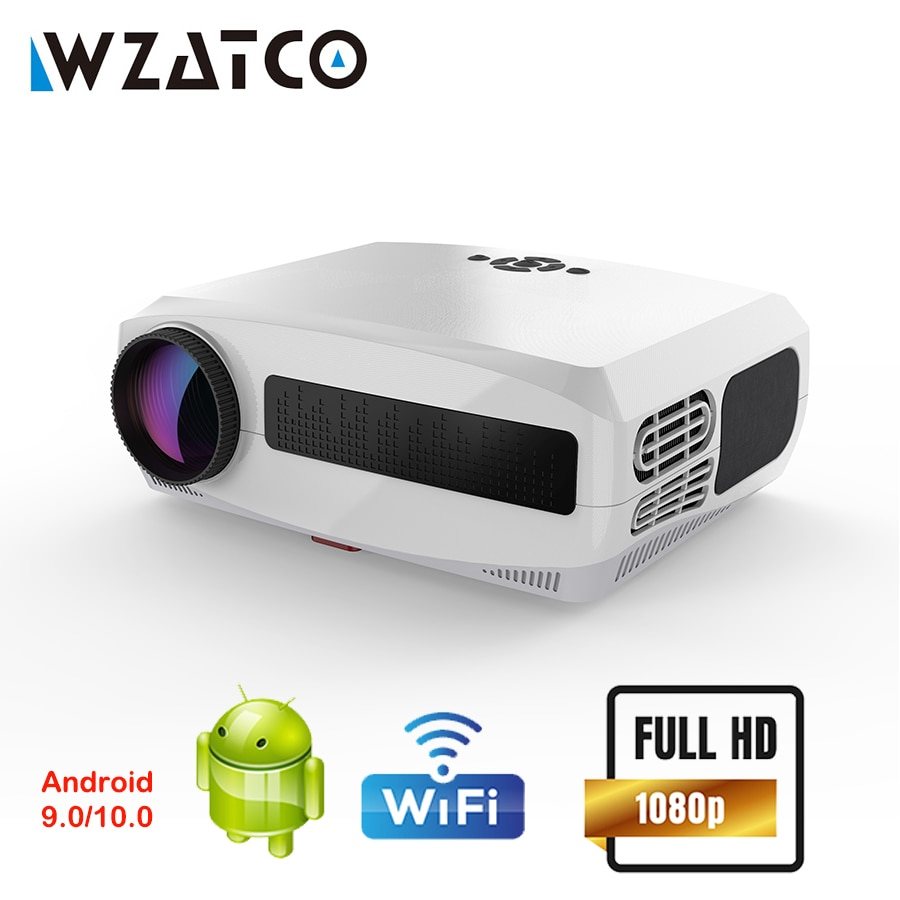 WZATCO C3 Proyector Android WIFI Full HD 1080P HD 300 pulgadas Proyector...