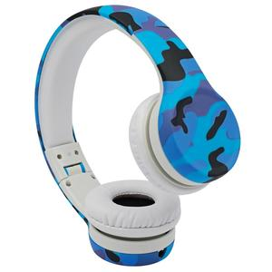 Kids Headphones, Hisonic Volume Limited with share port camouflage design kid headset for boys