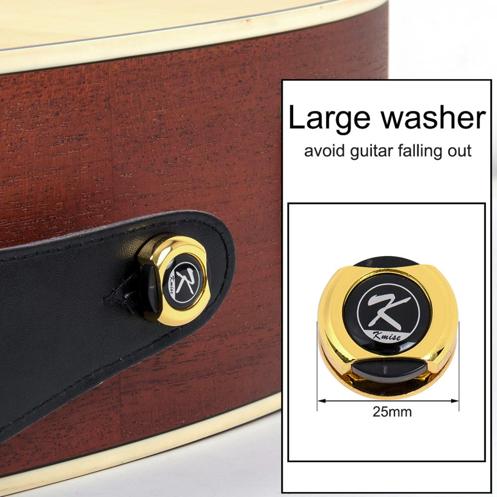 Kmise Guitar Strap Lock Button for Electric Acoustic Classical Bass Gold Black Chrome enlarge