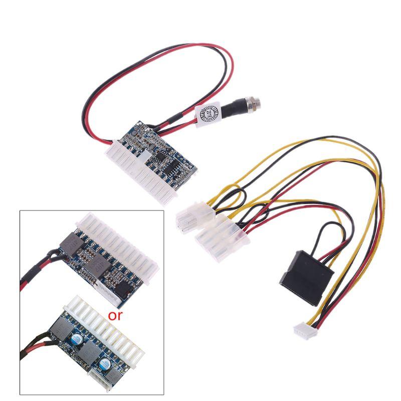 DC 12V 160W 24-Pin ATX Switch PSU Car Auto Mini ITX Power Supply Module Cable DropShip
