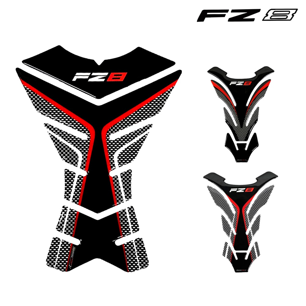 Carbon Guard For Yamaha FZ8 Fazer FZ 83D Motorcycle Tank Pad Adhesive Stickers