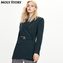Autumn New High Quality Blazers for Women Coat Long Basic Fall Jacket