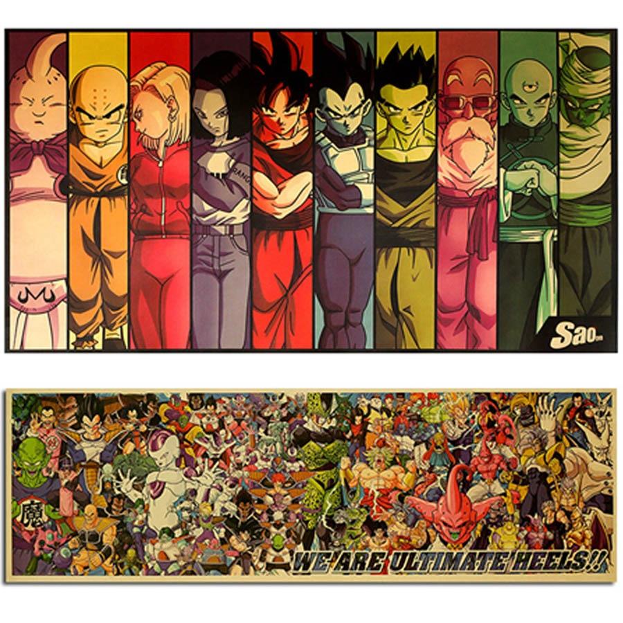 AIMEER Vintage cartoon anime dragon ball plakat home decoration komiks retro kraft plakat papierowy dekoracyjna naklejka ścienna