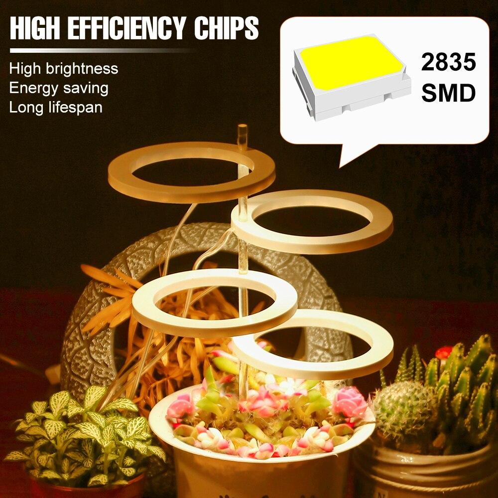 Phyto Grow Lamp LED Full Spectrum USB Plant Light Bulb 1 2 3 4 Head LED Grow Box Planting Light Greenhouse Hydroponic Grow Lamp