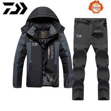 Conjuntos de ropa de pesca DAIWA ropa de pesca al aire libre ropa de invierno abrigada para hombres traje de pesca chaqueta de pesca transpirable más terciopelo