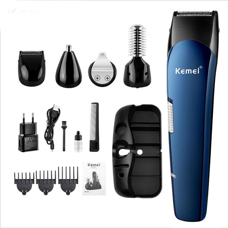 8 in1 المهنية اللاسلكية الكهربائية مقص الشعر متعددة الوظائف الشعر المتقلب قابلة للشحن الحلاقة الحلاقة الكهربائية مقاوم للماء