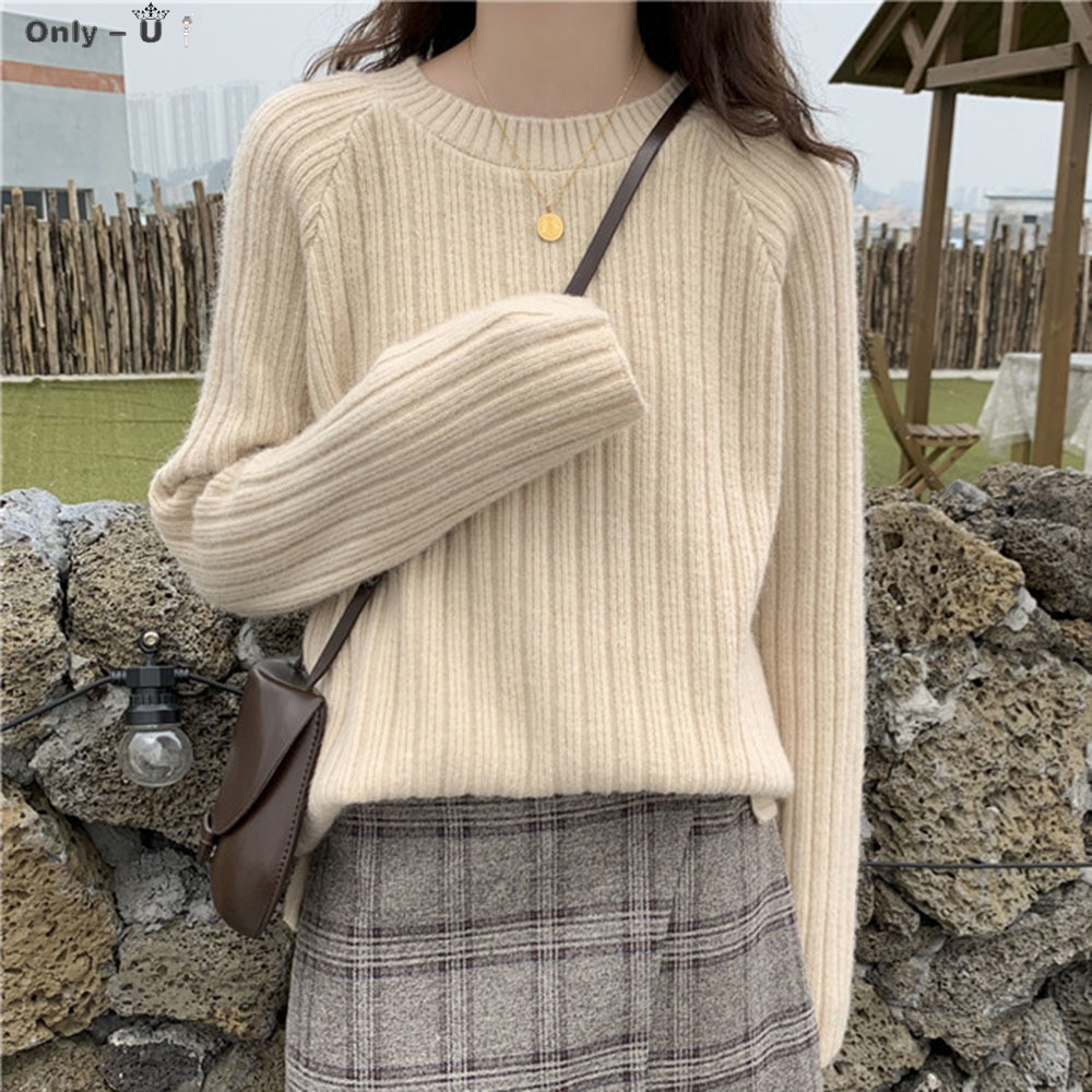 Women Pullover Loose Bottoming Sweater 2020 New Fall Winter Wear Outside Lazy Wind All-match Japanese Korean Early Autumn Tops