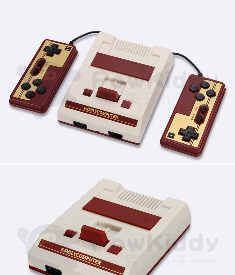 Mini consola de videojuegos nostálgica Powkiddy K10 con HDMI integrado en 621, controlador de juego Retro para NES FC, consola de juegos de TV en casa, regalo