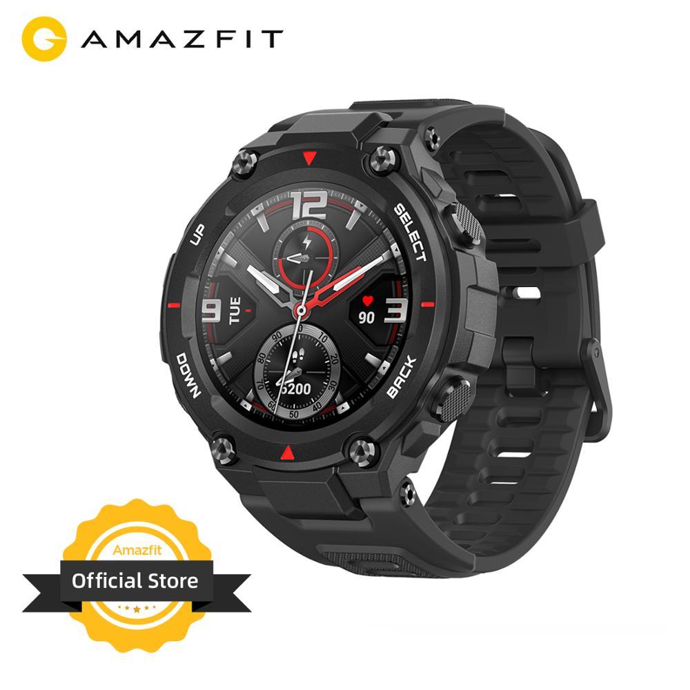 Neue 2020 CES Amazfit T rex T-rex Smartwatch Control Musik 5ATM Smart Uhr GPS/GLONASS 20 tage batterie lebensdauer MIL-STD für Android