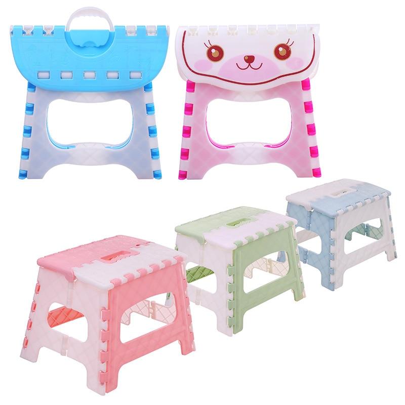 Portable Plastic Folding Stool Multi Purpose Cartoon Children's Stool Stepstool Outdoor Hiking Fishing Foldable Stool Chair