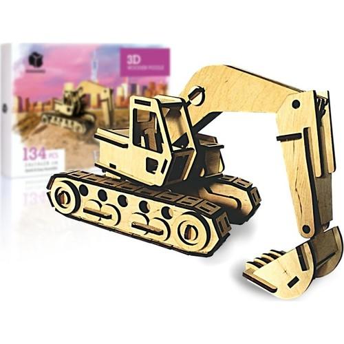 Pershang Bagger 134 Stück Holz 3D Puzzle