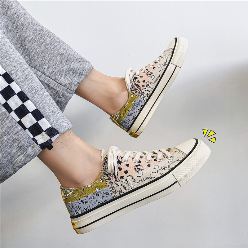 Zapatos de lona originales para Skateboard, zapatillas deportivas de corte bajo, transpirables,...