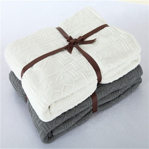 130cmX160cm 3 Colors Nordic Blanket Knitted plus velvet Sofa Cover Blanket Winter Bed Bedding Warm Soft Quilt Bed Throws