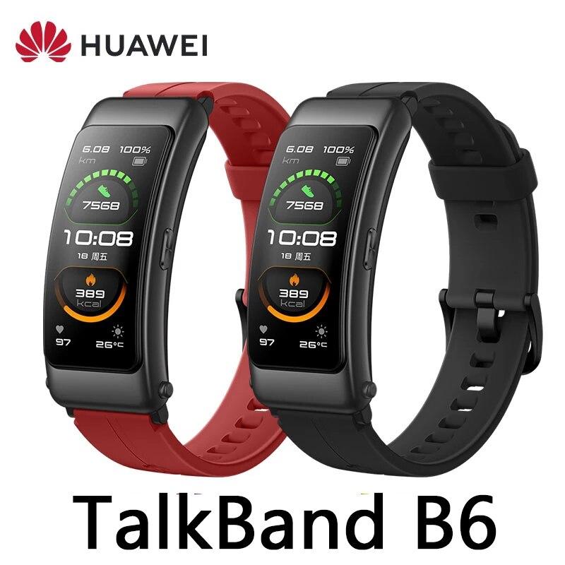 Promo Original Huawei TalkBand B6 Talk Band B6 width Bluetooth Smart Bracelet Sports Wristbands Touch AMOLED Screen Call Earphone Band