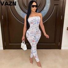 VAZN جديد صيف 2020 المرأة حللا السيدات عادية أكمام الخامس الرقبة الصلبة السروال القصير حفلة الخروج ارتداء