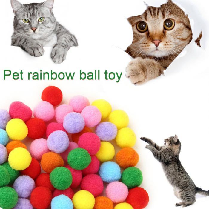 10/20/50/100 Uds. Surtido de coloridos juguetes para gatos, gatitos y mascotas, juguete para masticar arcoíris, Stratch Fun, suministros para mascotas, DAG-ship