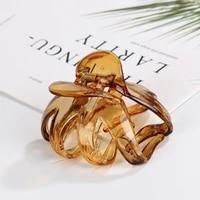 korean style women lady hair claw acrylic hair clips barrette crab clamp hair pins ornaments women hair accessories
