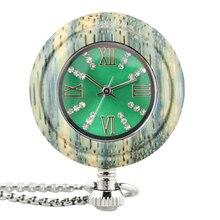 2021 new pocket watch wooden watch quartz watch custom chain fashion round watch bracelet watch