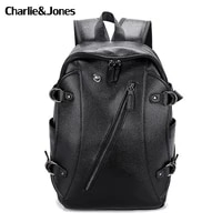 new trend casual laptop bags high capacity backpack computer multifunction mens bag travel pu leather mochila backpacks for man