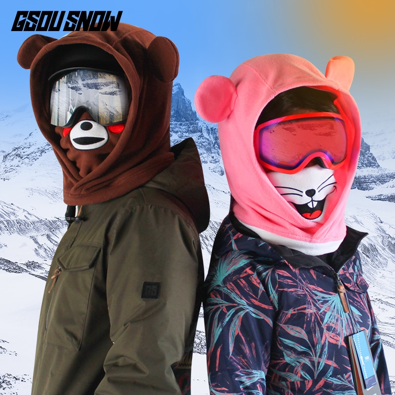 Ski Hood Warm Hat Veneer Snow Face Protection Face Mask Snow Country Ski Equipment Helmet Cover Cover