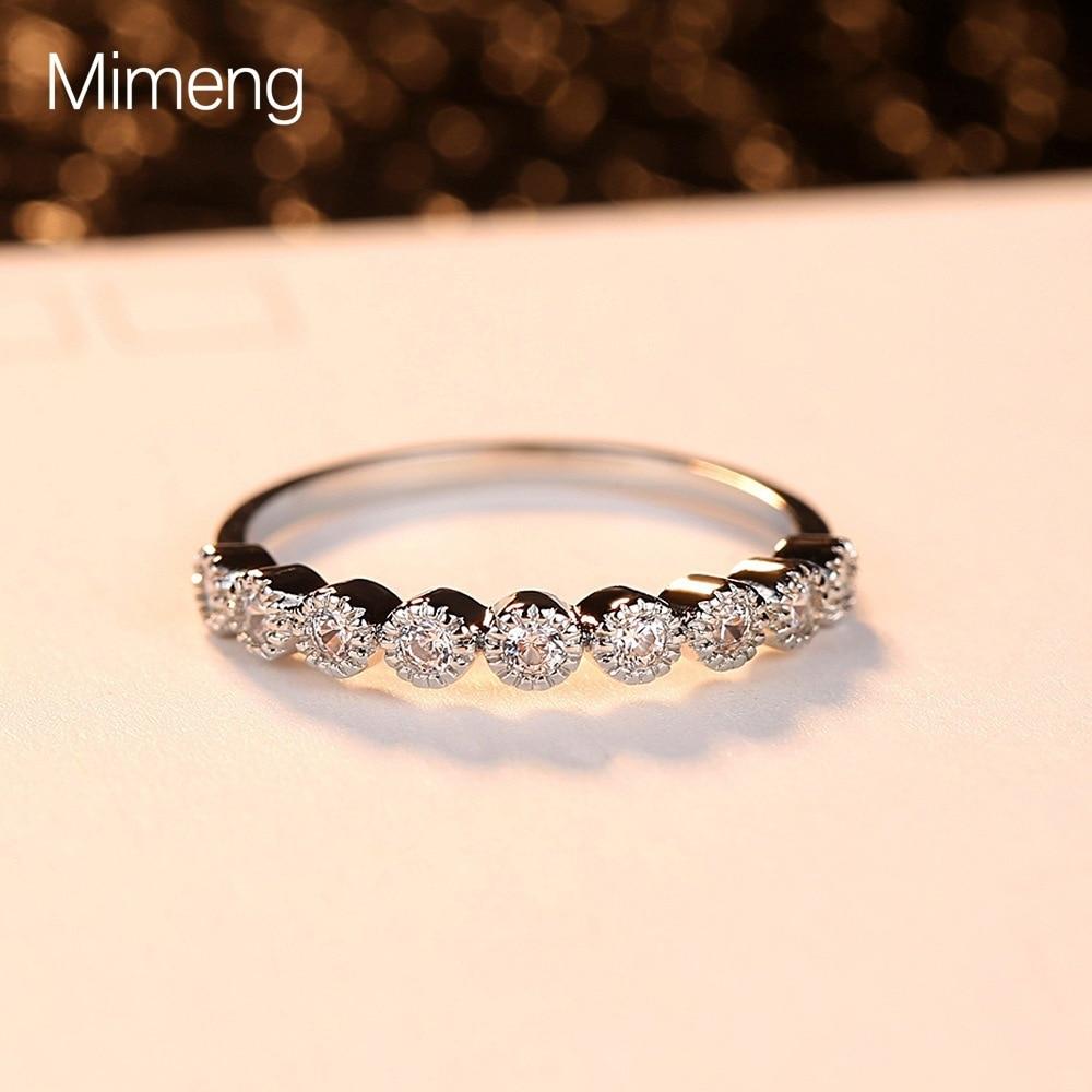 recente e versatil temperamento criativo novo anel de casal moda simples anel de zircao