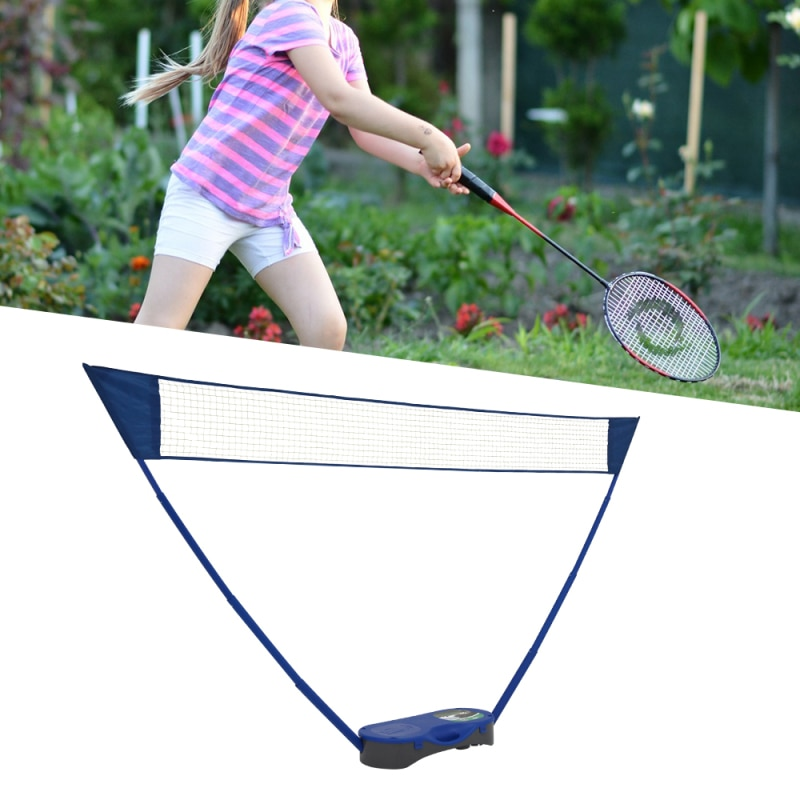 Portable Folding Badminton Set with Badminton Racket 3 In 1 Outdoor Tennis Badminton Volleyball Net Physical Education Motion