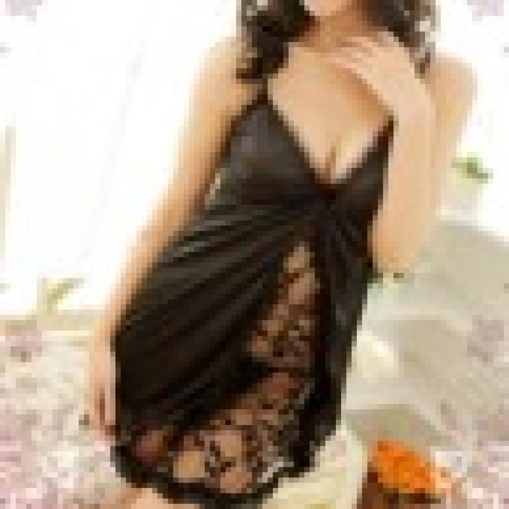80% Hot Sale Women's Sexy V-Neck Lace Dress Erotic Underwear Babydoll Sleepwear + G-String