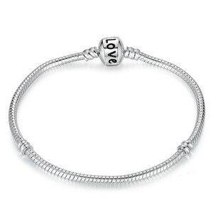 Bracelet Fashion jewelry Silver plated Bracelet, Bangle for women,Charm Beads Fits  Bracelet men bracelet