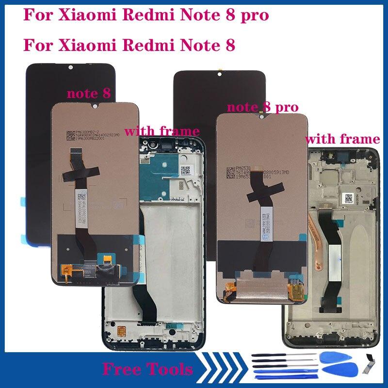 LCD Original para Xiaomi Redmi Nota 8 pantalla LCD de montaje de digitalizador con pantalla táctil para Redmi Nota 8 pro LCD kit de reparación con marco
