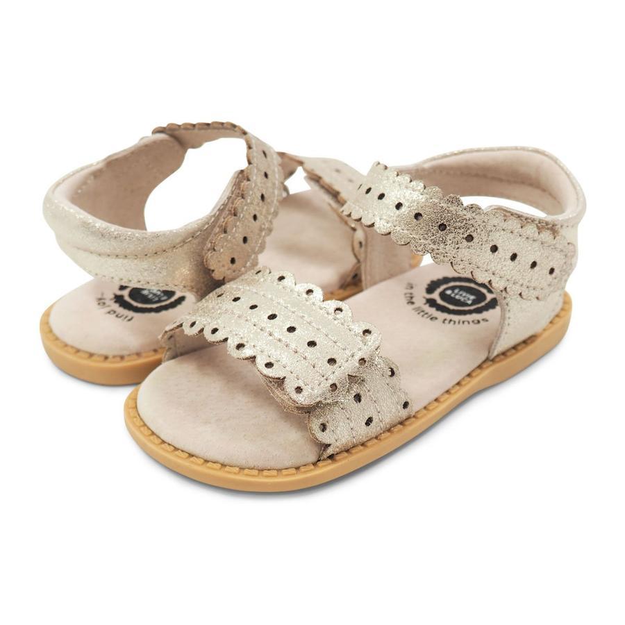 Tipsietoe الأطفال Posey نمط للفتيات الصنادل منخفضة الكعب الجلد الحقيقي Enfants Fille فستان الحفلات حذاء طفل أطفال الصيف