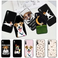 jack russell terrier dog black silicone cell phone cover for honor 7a pro 7c 10i 8a 8x 8s 8 9 10 20 lite case