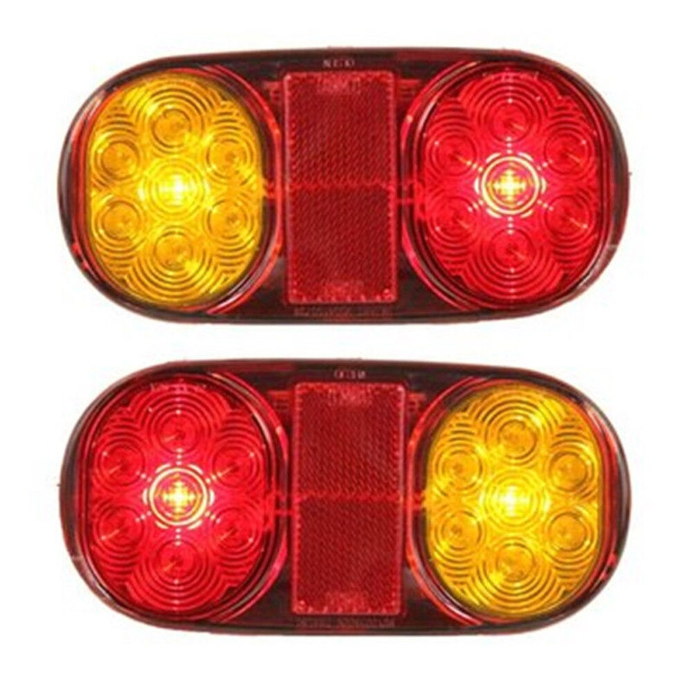 Lámparas de bote, luces indicadoras, freno LED 14 para camiones, remolques, caravanas, 2 uds, resistente al agua, DC 12V, ABS, lo último