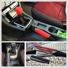 Car suv rubber Gear Shift Knob Handbrake Cover for Toyota FJ Cruiser RAV4 CROWN REIZ PRIUS COROLLA VIOS LAND CRUISER PRADO