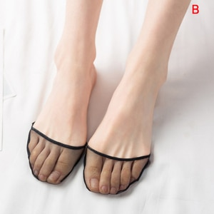 1pair High Heels Cushion Anti-Slip Silicone Shoe Cushion  Invisible Forefoot Insole Pad Front Heel Socks