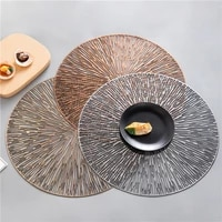 4pcs pvc hollow round placemat waterproof non slip dining table mats heat insulation steak plate pad coffee coaster kitchen