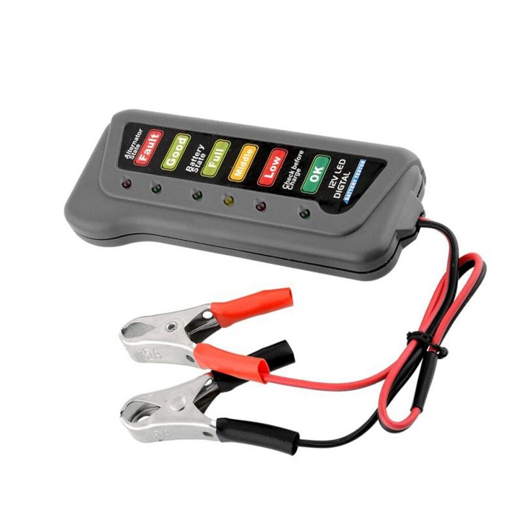 Auto Lkw 12 Volt Batterie Tester Led-anzeige Licht Display Motorrad Motorrad Batterie Checker