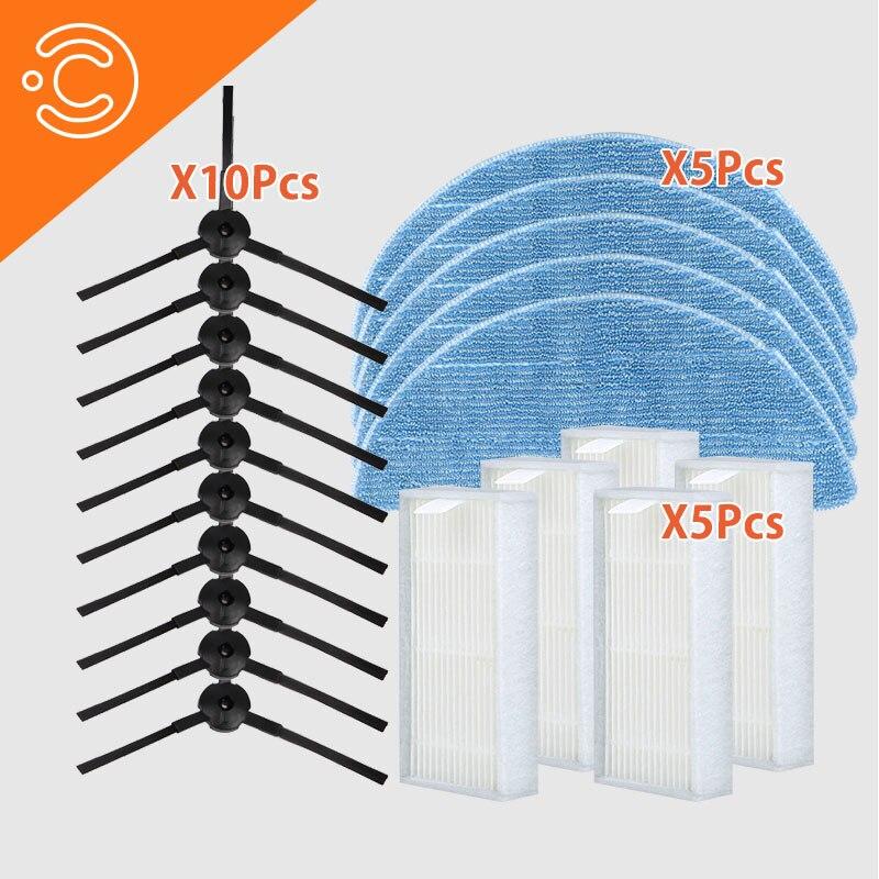 Ilife v55 Paquete de piezas Cepillo Lateral mopa filtro hepa para ilife v55 Robot ACCESORIOS DE VACÍO CONJUNTO DE piezas de repuesto