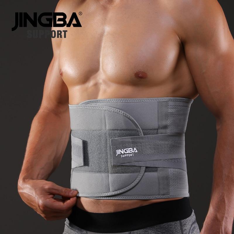 JINGBA SUPPORT fitness sports waist back support belts sweat belt trainer trimmer musculation abdomi