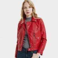 red leather jacket women short 2019 new biker jacket korean short coat slim temperament punk jacket casual black jacket women