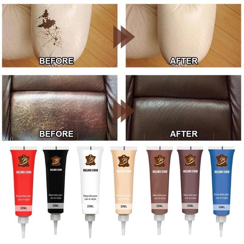 1pc Leather Repair Gel Leather Scratch Repair Soft Glue Complementary Color Repair Refurbishing Cream Paste Leather Cleaner
