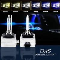 2pcsset 35w 55w d3s xenon hid auto headlight 5000k 6000k 8000k 10000k highlight car headlight xenon lamp bulb for car lights