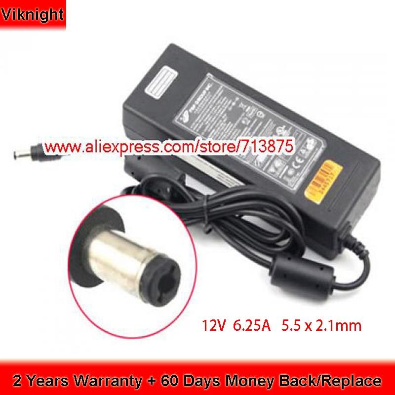 Genuino FSP FSP075-DMAA1 12V 6.25A 75W AC Adapter per EX60 ALL-IN-ONE VIDEO CONFERENZA C20 VIDEO 9NA0750617 FSP075-DIBAN2