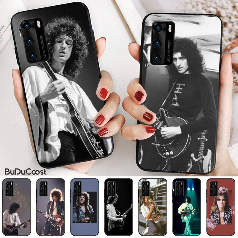 Black Queen Brian May Phone Case For Huawei P20 P30 P20Pro P20Lite P30Lite P10 P Smart 2019 Plus P10Lite P40 Pro P40 Lite