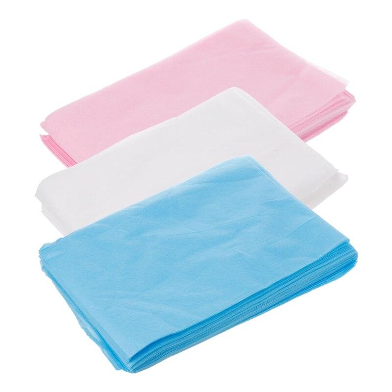 10 pces massagem beleza não-tecido descartável cama lençóis de cobertura 80x170cm m89f