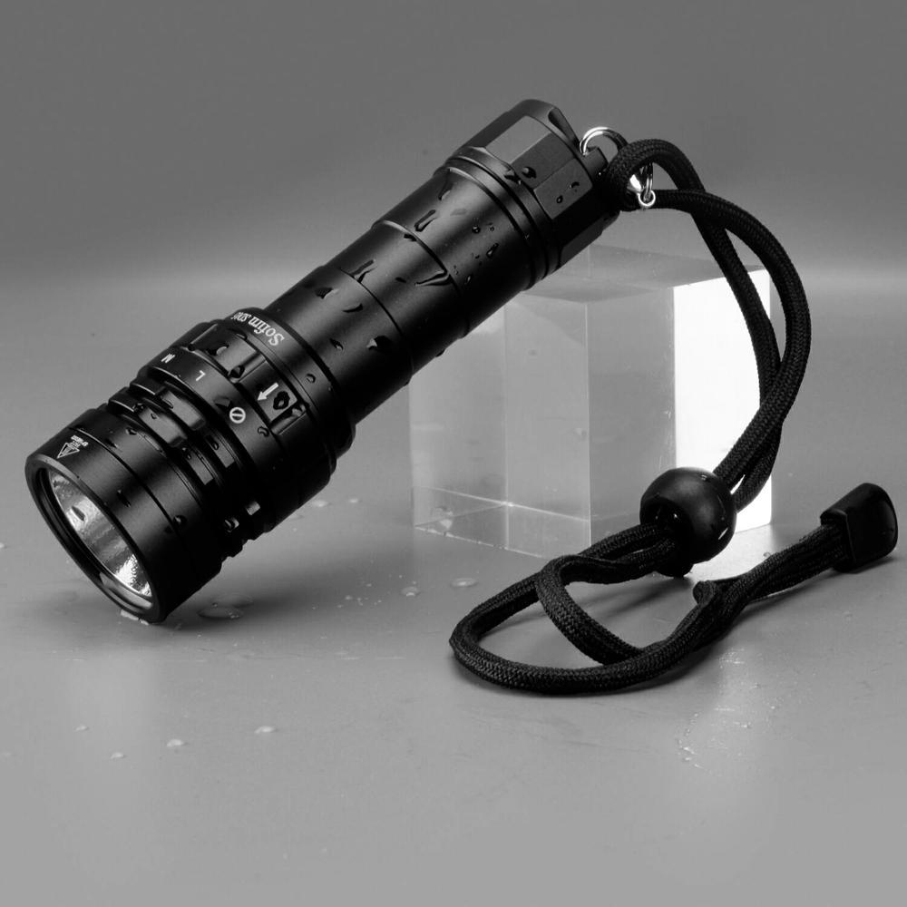 Sofirn SD05 Scuba Diving Flashlight XHP50.2 21700 Lantern 3000lm IPX8 Waterproof Magnetic Ring Orange Peel Reflector 18650 Torch enlarge