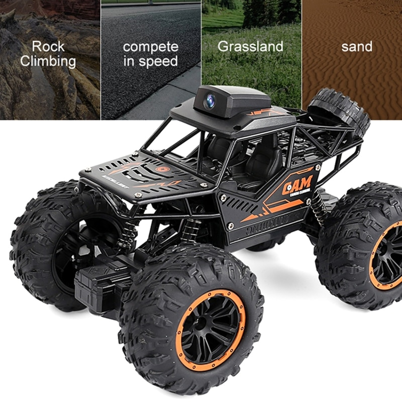 2.4G Controller APP Remote Control WiFi Camera High-speed Drift Off-road Car 4WD Double Steering Buggy RC Rock Crawler enlarge